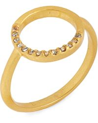 Madewell - Luster Circle Pave Ring - Lyst