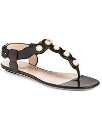 Gucci 'willow' Thong Sandal - Black