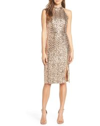 Vince Camuto - Sequin Embellished Body-con Dress - Lyst