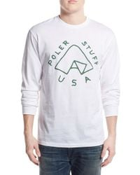 Poler Stuff - 'tent' Long Sleeve Graphic T-shirt - Lyst
