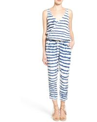 Sol Angeles - Stripe Surplice Crop Jumpsuit - Lyst