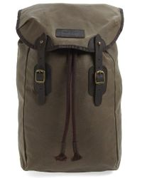 Barbour - Waxed Canvas Backpack - Metallic - Lyst