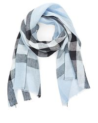 Burberry Exploded Check Linen Scarf - Black