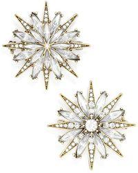 BaubleBar 'north Star' Crystal Brooches (set Of 2) - Metallic