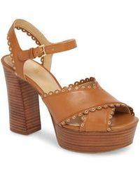 MICHAEL Michael Kors - Jessie Platform Sandal - Lyst