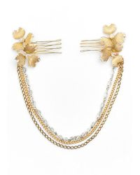 Halo - 'charlie' Hair Ornament - Metallic - Lyst