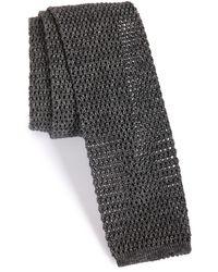 Maker & Company Knit Cotton Tie - Gray