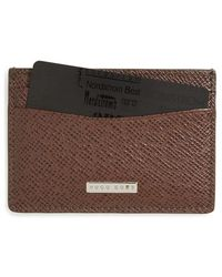 BOSS - 'signature' Leather Card Case - Lyst