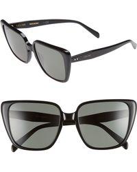 Céline - 57mm Modified Square Cat Eye Sunglasses - Lyst