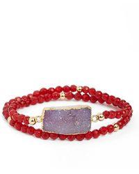 Elise M - Double Wrap Beaded Bracelet - Lyst