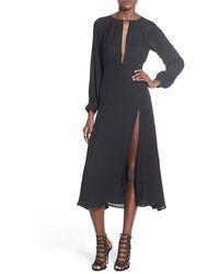 Stone Cold Fox 'paris' Silk Maxi Dress - Black