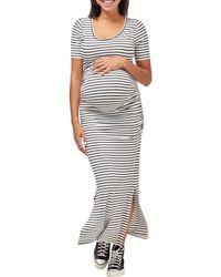 Nom Maternity - Hugo Maxi Maternity Dress - Lyst