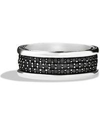 David Yurman Streamline® Three - Row Band Ring With Black Diamonds