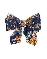 Cara - Floral Print Bow Barrette - Lyst