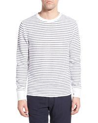 Relwen - Stripe French Terry Long Sleeve Crewneck Sweater - Lyst