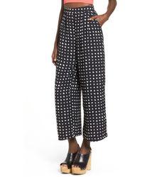 Storee - Dot Print Wide Leg Pants - Lyst