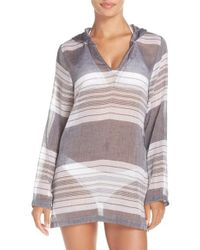 Caslon - Caslon Hooded Cover-up Tunic - Lyst