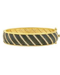 Freida Rothman - Textured Ornaments Wide Hinge Bangle - Lyst