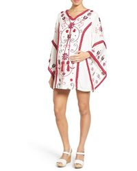 Fillyboo | 'cactus Jam' Embroidered Maternity Mini Dress | Lyst