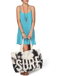 Rip Curl - 'catching Rays' Canvas Beach Bag - Lyst