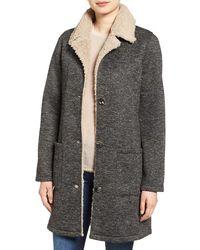 Steve Madden Faux Shearling Jacket - Gray