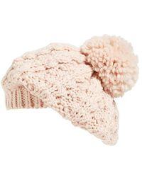 Hinge - Knit Pom Beret - Lyst