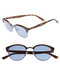 Web - 49mm Half Rim Sunglasses - Lyst