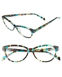 Corinne Mccormack - 'marge' 52mm Reading Glasses - Tort/ Turquoise - Lyst