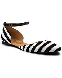 Shoes Of Prey - Ankle Strap D'orsay Flats - Lyst