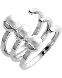 Rebecca Minkoff - 'tt' Faux Pearl Wrap Ring - Lyst