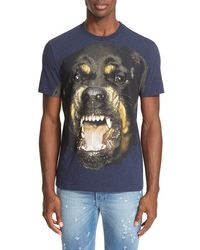 Givenchy Rottweiler-graphic T - Blue