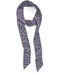Roffe Accessories - Printed Skinny Scarf - Lyst