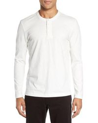 Kenneth Cole - Sueded Jersey Henley - Lyst