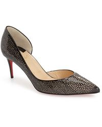 louboutin imitations - Christian louboutin Demi You Half D'Orsay Peep-Toe Red Sole Pump ...