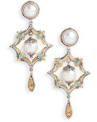 Konstantino Thalia Pearl Drop Earrings - Metallic
