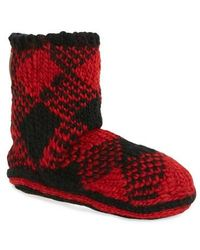 Woolrich Chalet Slipper Socks - Red