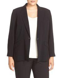 Louben One-button Suit Jacket - Black