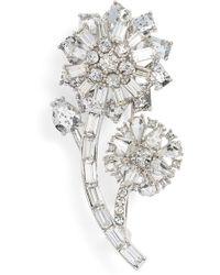 Kate Spade 'trellis Blooms' Small Crystal Pin - Metallic