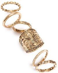 TOPSHOP Antiqued Rings - Metallic