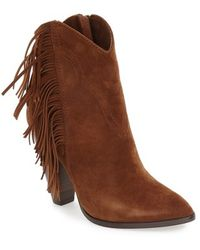 Frye - Remy Fringe Suede Boots - Lyst