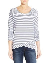 NYDJ - Stripe French Terry Sweatshirt - Lyst