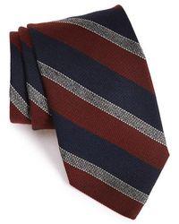 Strong Suit - Stripe Wool & Silk Tie - Lyst