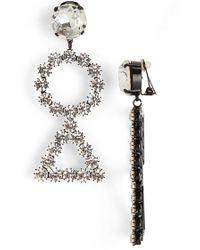 Ashley Williams - 'geo Drop' Crystal Clip Earrings - Lyst