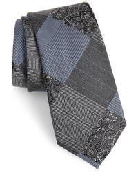 Calibrate - Leveque Check Silk Blend Tie - Lyst
