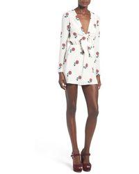 Stone Cold Fox 'Desire' Floral Print Silk Dress - Multicolour