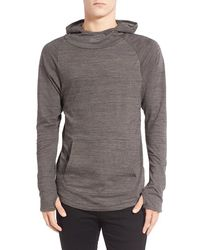 Imperial Motion 'trace Suba' Cowl Neck Hoodie - Gray