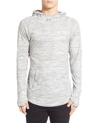 Imperial Motion 'trace Suba' Cowl Neck Hoodie - White