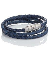 Porsche Design - 'grooves' Leather Wrap Bracelet - Lyst
