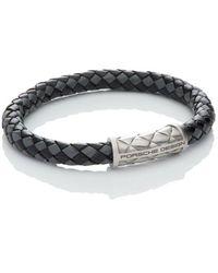 Porsche Design - 'nexus' Leather Bracelet - Lyst