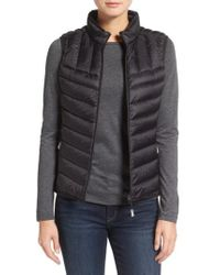 Tumi | Packable Quilted Down Vest, Black | Lyst